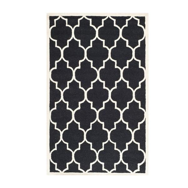 Czarny dywan wełniany Safavieh Everly, 182x121 cm