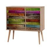 Dřevěná komoda Kasiani Rainbow