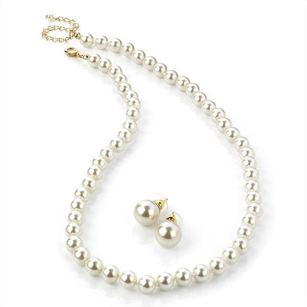 Sada náhrdelníku a náušnic Pearl Bronze