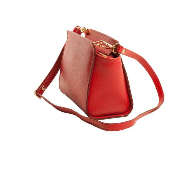 Červená kabelka z pravé kůže Andrea Cardone Caterina