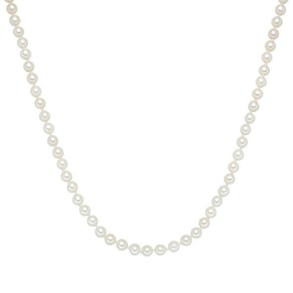 Perlový náhrdelník Muschel, bílé perly 6 mm, délka 45 cm