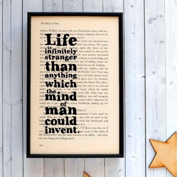 Plakát v dřevěném rámu Sherlock Holmes Life