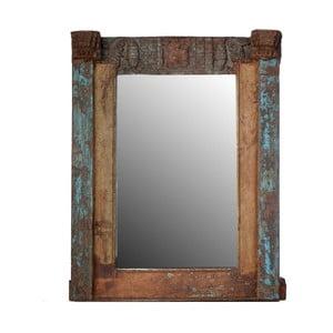 Zrcadlo Orient 71x91 cm, modrá patina