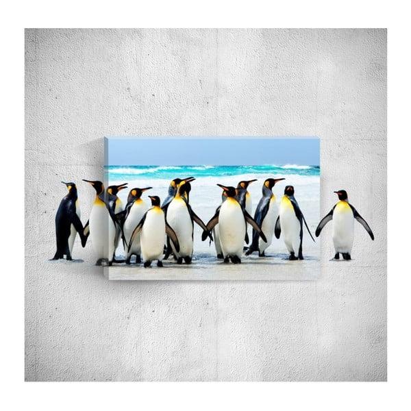 Penguins 3D fali kép, 40 x 60 cm - Mosticx