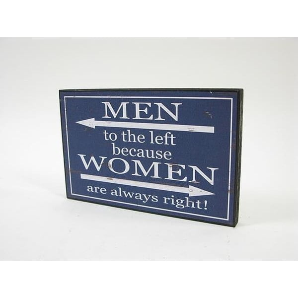 Tabulka s textem Men/Women