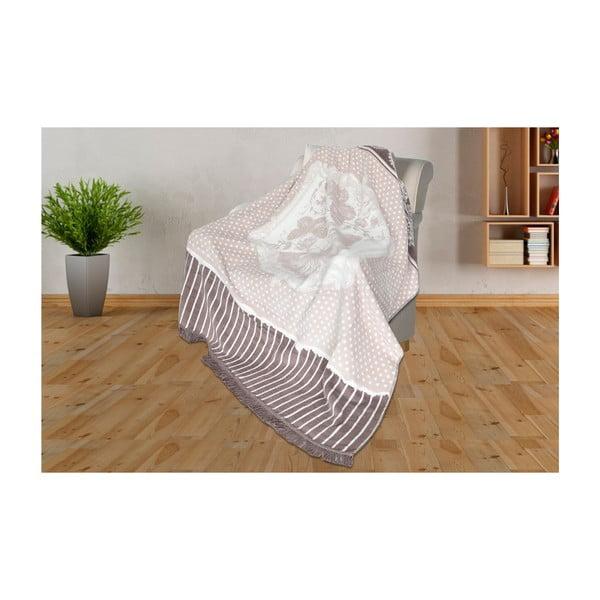 Deka s příměsí bavlny Aksu Viviana, 200 x 150 cm