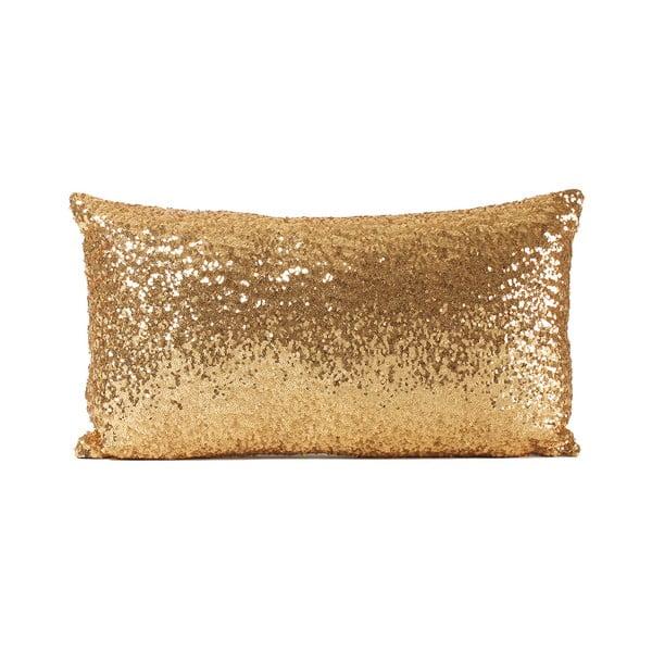 Flitrovaný polštář Shiny Gold, 33x57cm