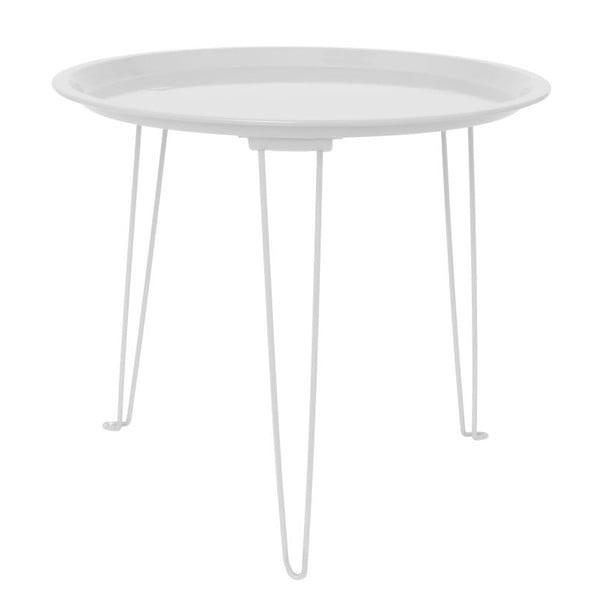 Bílý odkládací stolek Present Time Tray Mouse