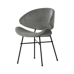 Šedá židle s šedými nohami Iker Cheri
