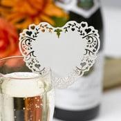 Set 10 etichete cu nume pentru pahar Neviti Vintage Romance