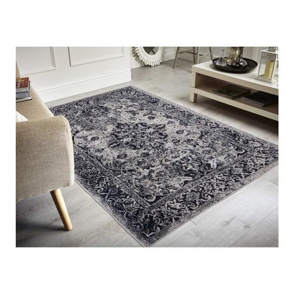 Edessa Grey Black folttaszító szőnyeg, 80x150cm - Floorita