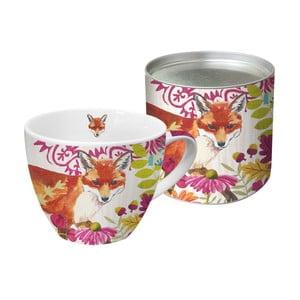 Hrnek z kostního porcelánu v dárkovém balení PPD Autumn Fox, 450 ml
