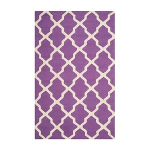 Vlněný koberec Safavieh Ava Purple, 274 x 182 cm