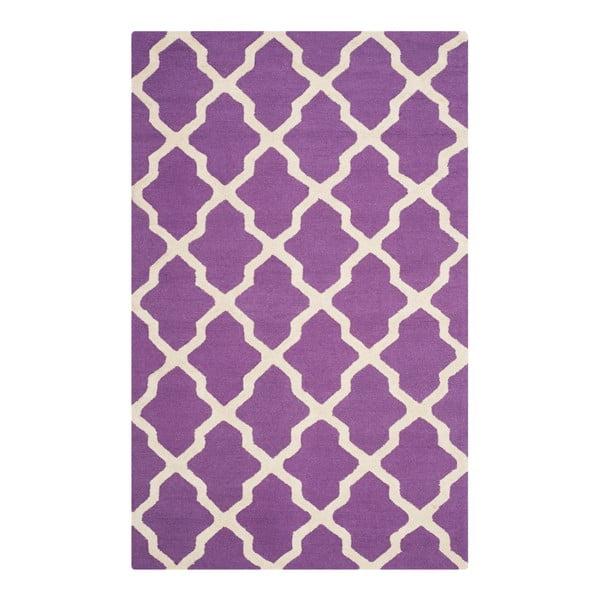 Vlněný koberec Ava Purple, 182x274 cm