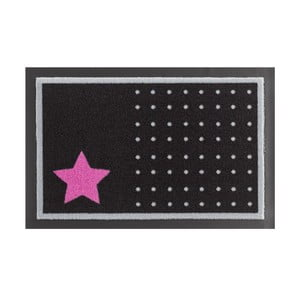 Rohožka Hanse Home Star and Dots Black and Pink, 40 x 60 cm