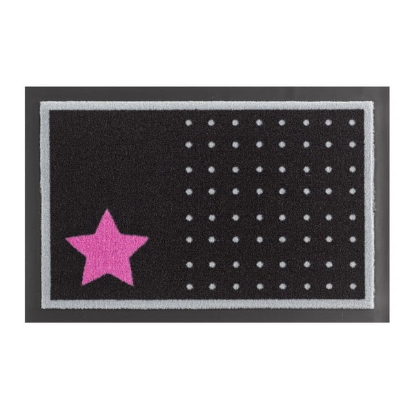Preș Zala Living Star and Dots Black and Pink, 40 x 60 cm