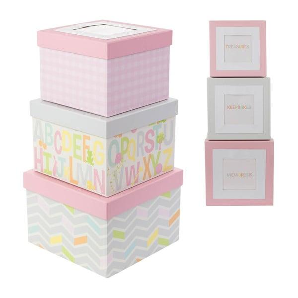Set 3 cutii pentru depozitare cu poză Tri-Coastal Design Kids World