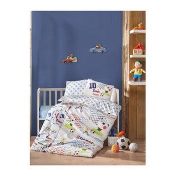 Lenjerie de pat din bumbac pentru copii Football 100 x 150 cm