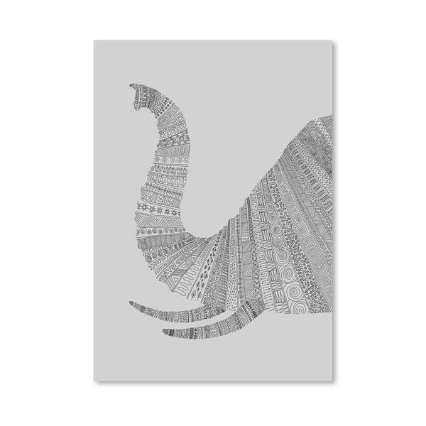 Plakát Elephant Grey od Florenta Bodart, 30x42 cm
