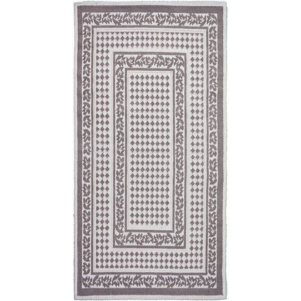 Sivobéžový bavlnený koberec Vitaus Olivia, 60 × 90 cm
