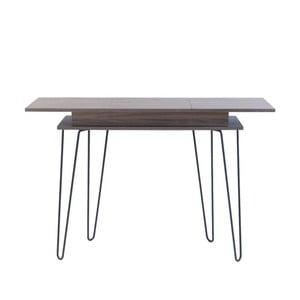 Konzolový stolek s úložným prostorem v dekoru ořechového dřeva 13CasaElektra