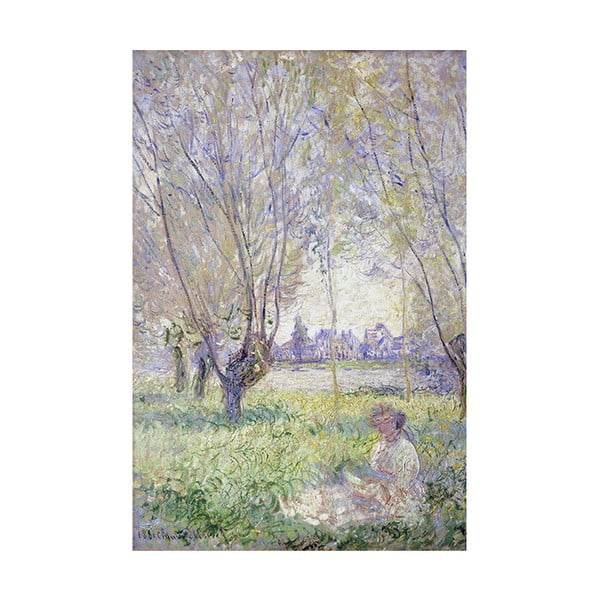 Obraz Claude Monet - Woman Seated under the Willows, 45x30 cm
