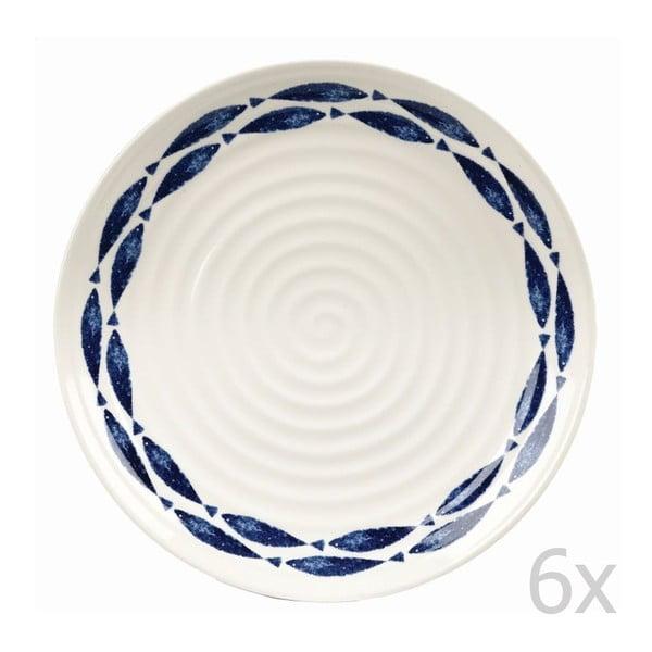 Sada 6 ks talířů Fishie White, 26 cm