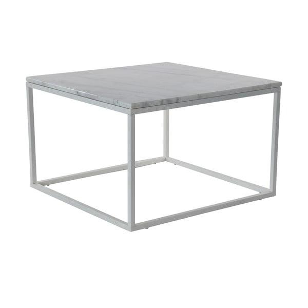 Mramorový konferenční stolek s šedou konstrukcí RGE Accent, 75x75cm