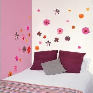 Samolepka na zeď Růžové květiny