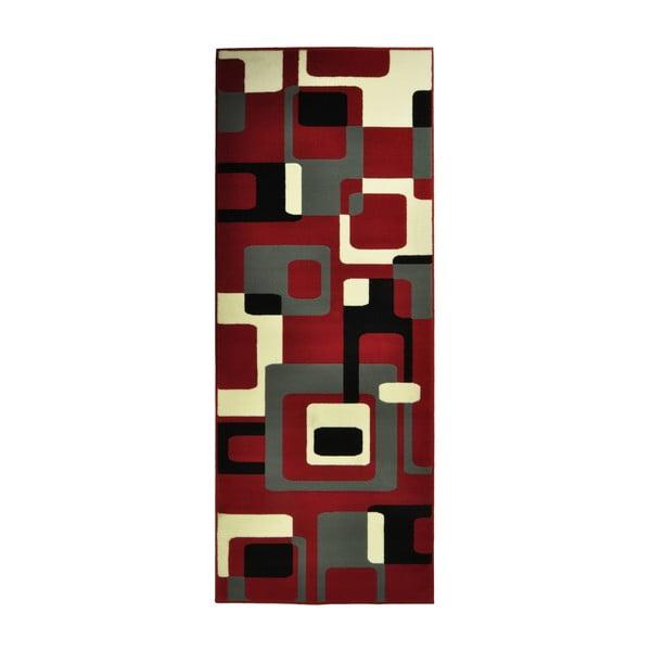 Červený koberec Hanse Home Hamla Retro, 80x200cm