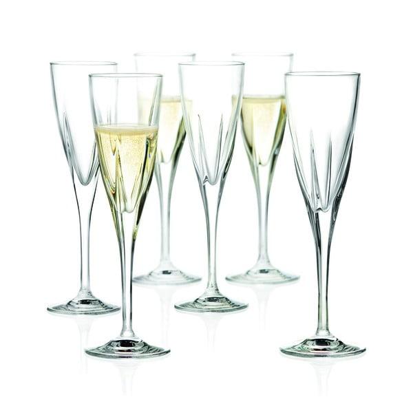Zestaw 6 kieliszków do szampana RCR Cristalleria Italiana Arezzo, 170 ml