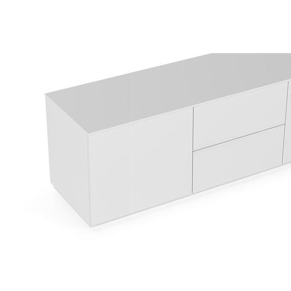 Bílý televizní stolek TemaHome Join, 180 x 57 cm