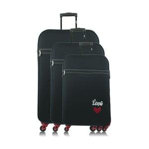 Sada 3 tmavě modrých cestovních kufrů na kolečkách INFINITIF Love