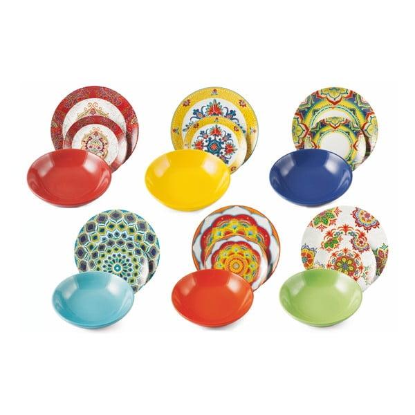 Set 18 vase din porțelan și ceramică Villa d'Este Calamoresca, multicolor