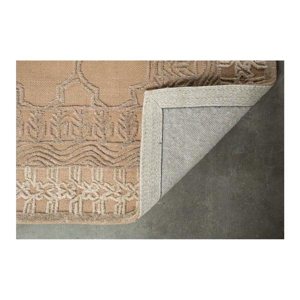 Béžový ručně vyráběný koberec Dutchbone Kasba, 170x240cm