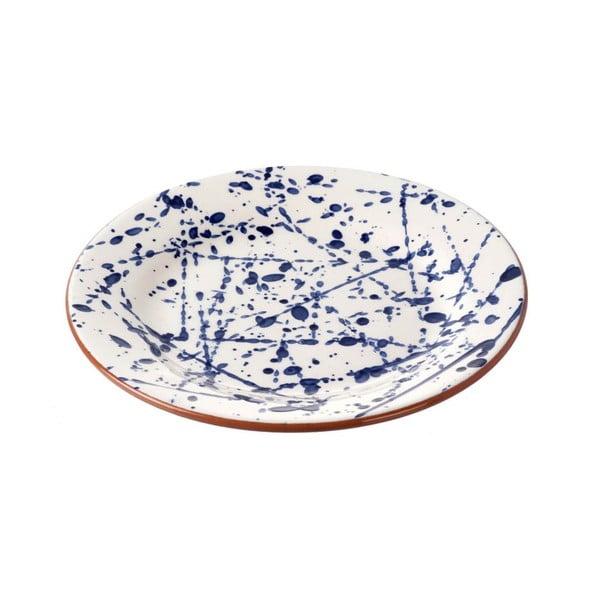Keramický talíř Parlane Blue Art, 22cm