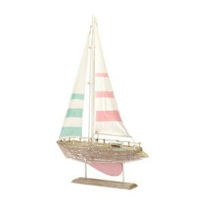 Dřevěná dekorace Boat Pink, 31x49 cm