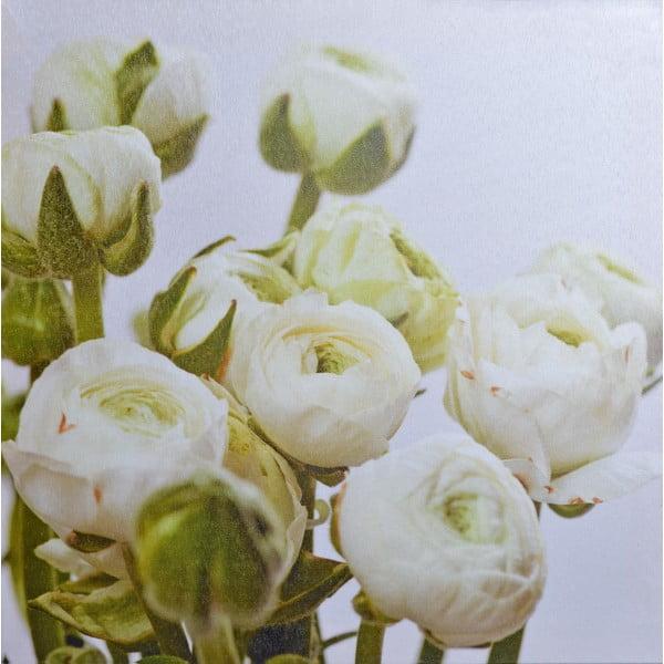 Obraz Bílé květy, 40x40 cm