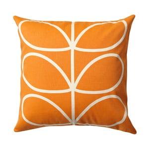 Pernă cu husă reversibilă Orla Kiely Orangina, 45 x 45 cm, portocaliu - bej