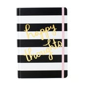Agendă Tri-Coastal Design Happy Thoughts Stripes