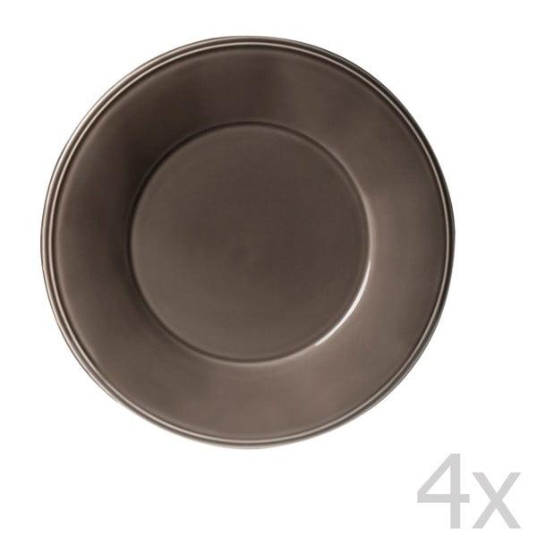 Sada 4 dezertních talířů Constrance Pepper, 23.5 cm