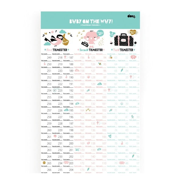 Kalendář pro těhotné Baby on the way