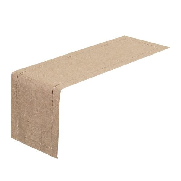 Beżowy bieżnik na stół Unimasa, 150x41 cm
