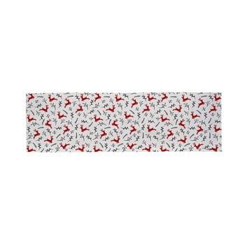 Traversă din bumbac cu motiv de Crăciun Butter Kings They Are Flying, 140 x 40 cm