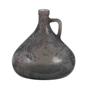 Šedá váza z recyklovaného skla Ego Dekor Cantaro, výška 17,5 cm