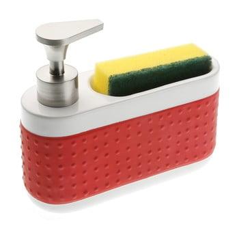 Suport pentru detergentul de vase și burete Versa, roșu de la Versa