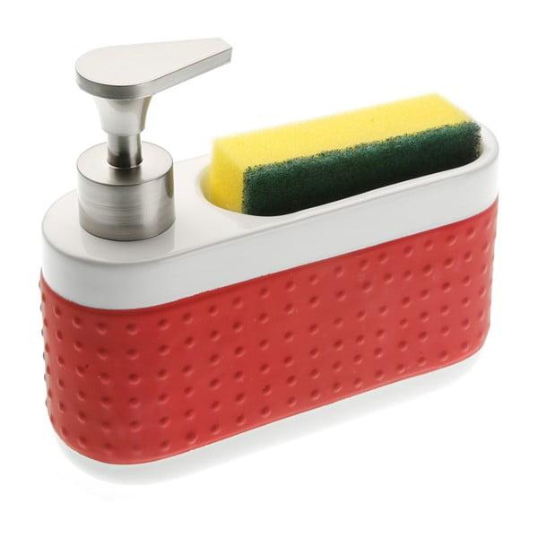 Suport pentru detergentul de vase și burete Versa, roșu