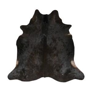 Covor din piele de vacă, 190 x 175 cm, negru