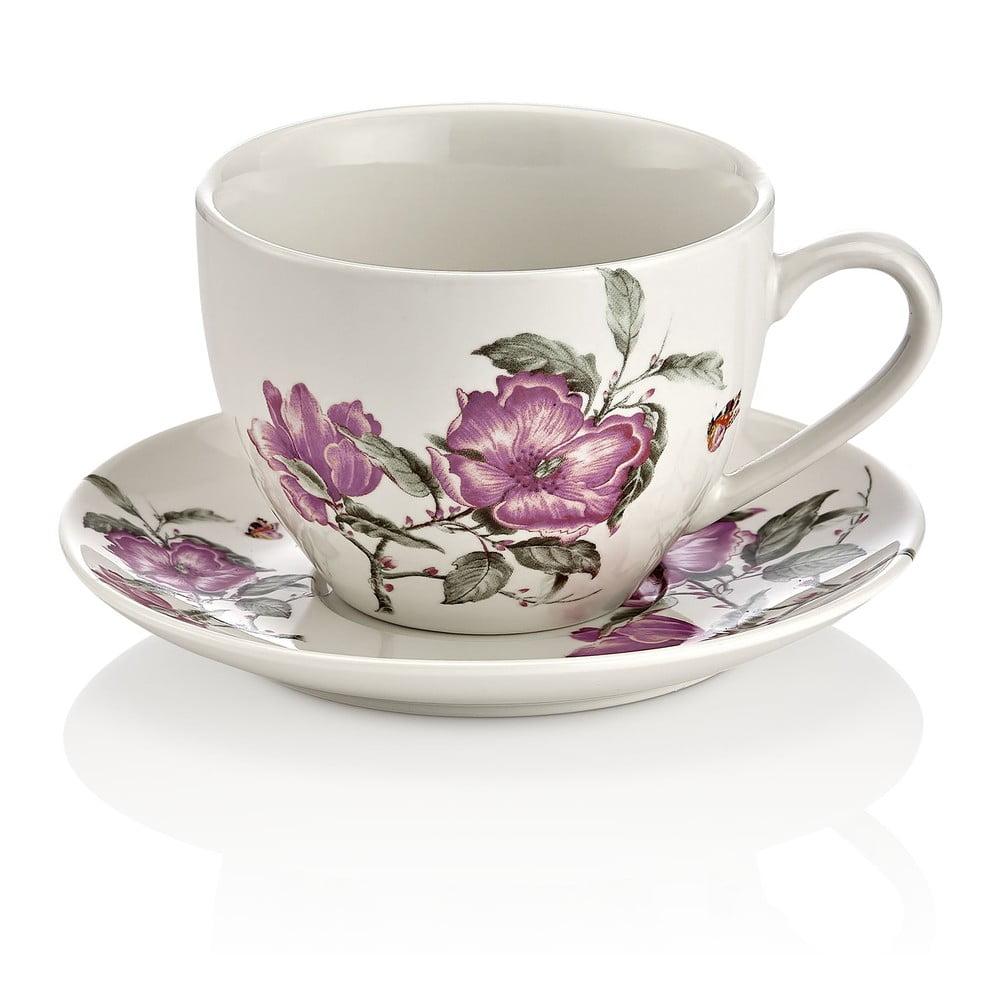 Sada 6 porcelánových šálků s podšálkem Kutahya Shine Elegance