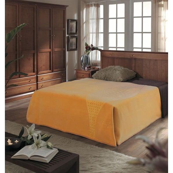 Přehoz Piel Koc žlutý, 220x240 cm